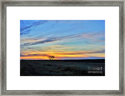 Kansas Sunrise1 Framed Print