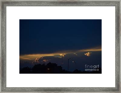 Kansas Sunset Angel Framed Print