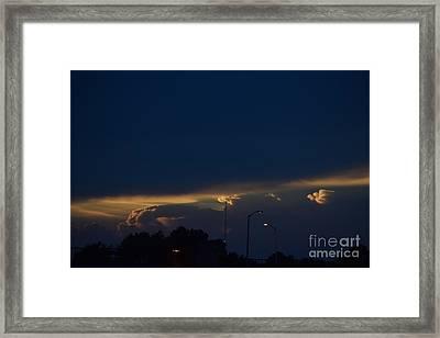 Kansas Sunset Angel Framed Print