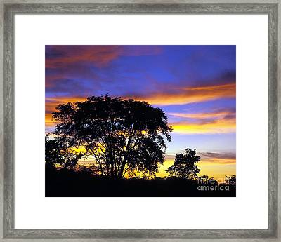 Kansas Sunset1 Framed Print