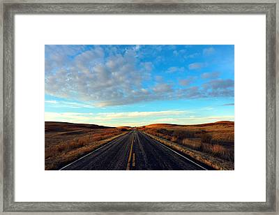 Kansas The Land Of Ahs. Framed Print by Lynne And Don Wright