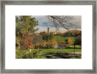 Kansas University Framed Print by Joan Bertucci