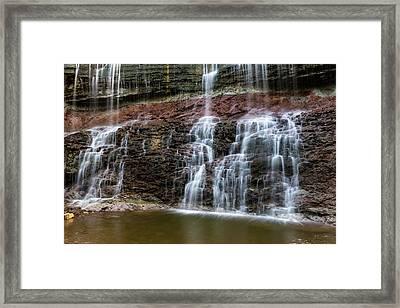 Kansas Waterfall 3 Framed Print by Jay Stockhaus