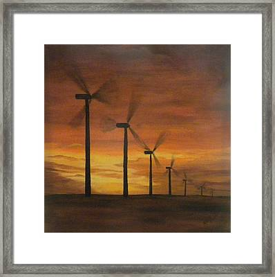 Kansas Wind Farm Framed Print