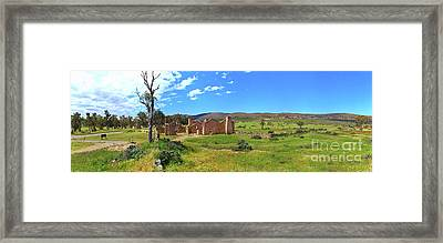 Kanyaka Homestead Ruins Framed Print by Bill Robinson