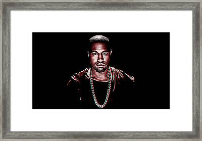Kanye West Framed Print by Iguanna Espinosa