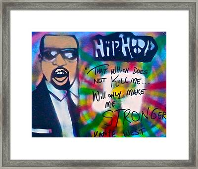 Kanye West Stronger Framed Print by Tony B Conscious