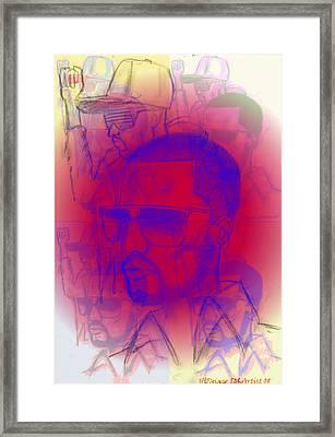 Kanye West Swag  Framed Print by HPrince De Artist