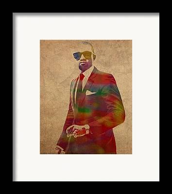 Kanye West Framed Prints
