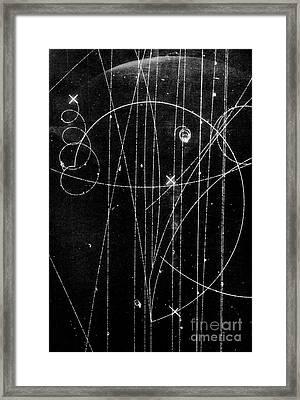Kaon Proton Collision Framed Print