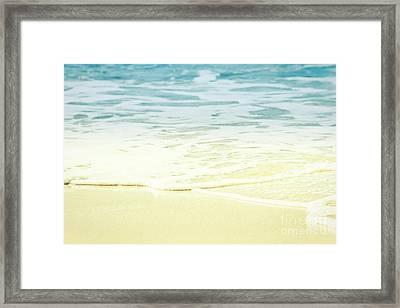 Kapalua Beach Dream Colours Sparkling Golden Sand Seafoam Maui Framed Print by Sharon Mau