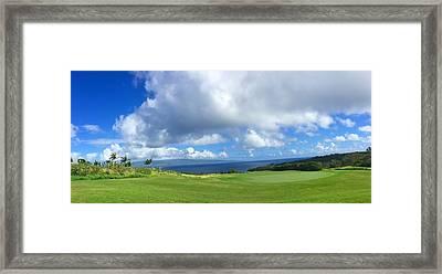 Kapalua Golf In Maui Framed Print by Stacia Blase
