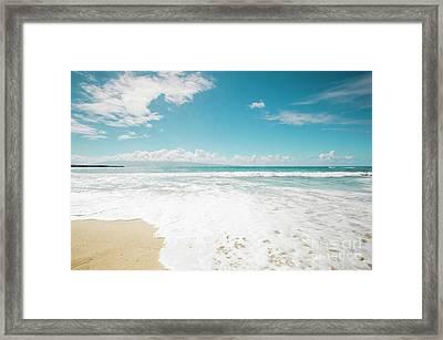 Kapalua Beach Honokahua Maui Hawaii  Framed Print by Sharon Mau