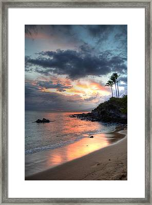 Kapalua Sunset Framed Print by Kelly Wade