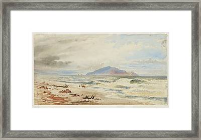 Kapiti, Circa 1868, New Zealand, By Nicholas Chevalier. Framed Print