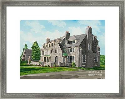 Kappa Delta Rho South View Framed Print by Charlotte Blanchard