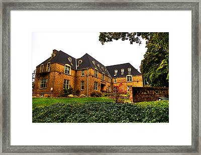 Kappa Delta Sorority On The Washington State Campus Framed Print by David Patterson