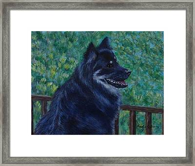 Framed Print featuring the painting Kapu by Amelie Simmons