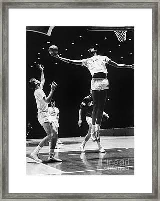 Kareem Abdul Jabbar (1947-) Framed Print by Granger