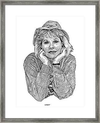 Karen Marie Framed Print by Dave Luebbert