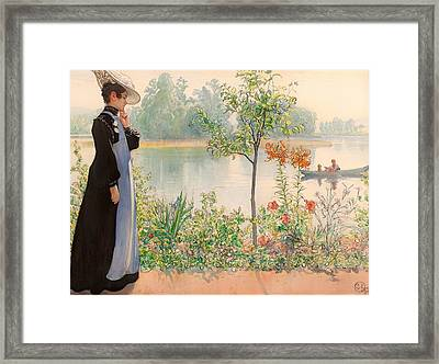 Karin By The Shore Framed Print by Mountain Dreams