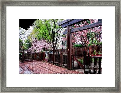Kariya Park Japanese Architecture Framed Print by Charline Xia