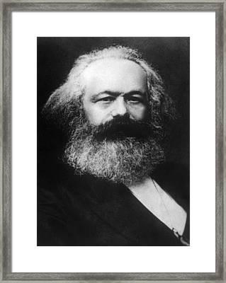 Karl Marx 1818-1883 Framed Print by Everett