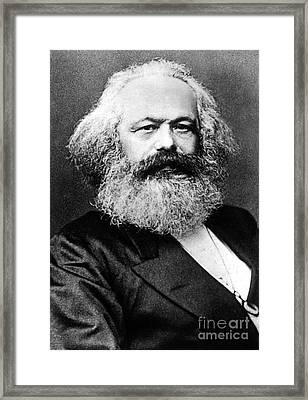 Karl Marx  German Politician Economist And Philosopher One Of The Authors Of Communist Pa Framed Print by English School