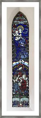 Karl Parsons Stained Glass Window Bibury Framed Print by Tim Gainey