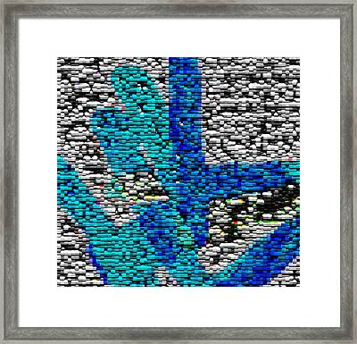 Karlheinz Stockhausen Tribute Falling Shapes Digital Four Framed Print by Dick Sauer