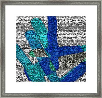 Karlheinz Stockhausen Tribute Falling Shapes Digital One Framed Print by Dick Sauer