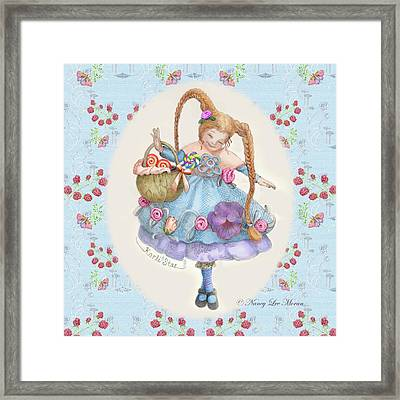 Karli Star With Butterflies And Raspberries Framed Print