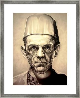 Karloff Framed Print by Fred Larucci
