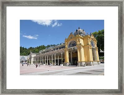 Marianske Lazne - Colonnade Framed Print