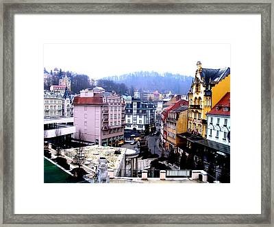 Framed Print featuring the photograph Karlovy Vary Cz by Michelle Dallocchio