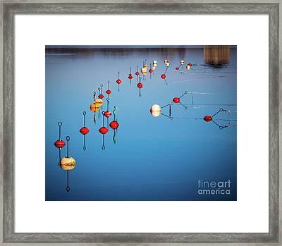 Karlskrona Buoys Framed Print by Inge Johnsson