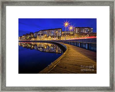 Karlskrona By Night Framed Print