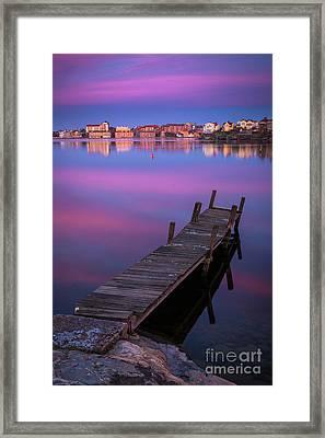 Karlskrona Dock Framed Print by Inge Johnsson