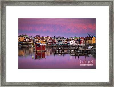 Karlskrona Twilight Framed Print by Inge Johnsson