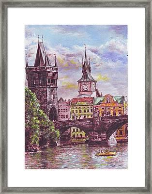 Karluv Most A Novotneho Lavka  Framed Print by Gordana Dokic Segedin