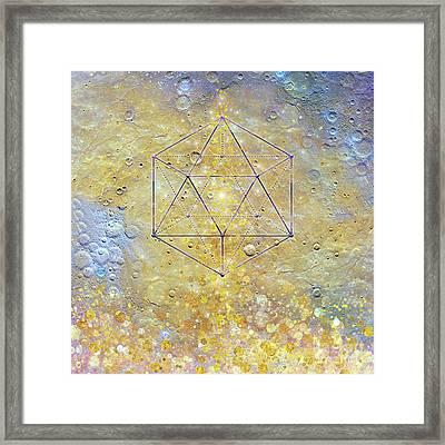 Karmic Evolution, Dreams, Fantasy, Moon, Space, Geometry Framed Print