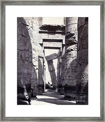 Karnak, Great Hypostyle Hall, 19th Framed Print