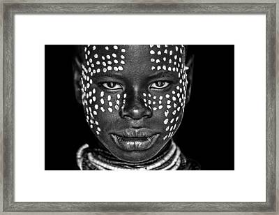 Karo Girl Framed Print