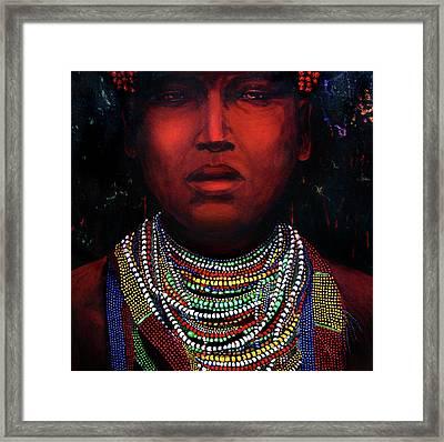 Karo Of The Omo River Framed Print