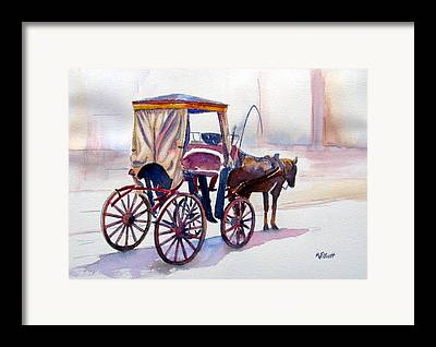 Horse Buggy Framed Prints