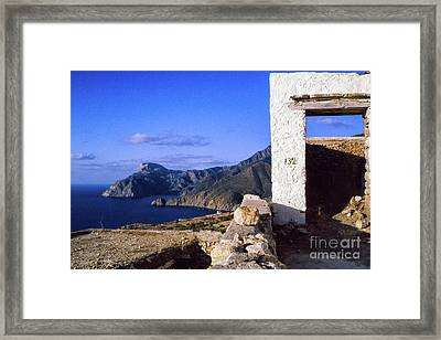 Framed Print featuring the photograph Karpathos Island Greece by Silvia Ganora
