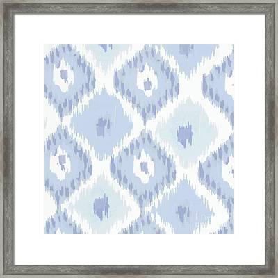 Kasbah Blue Ikat Framed Print by Mindy Sommers