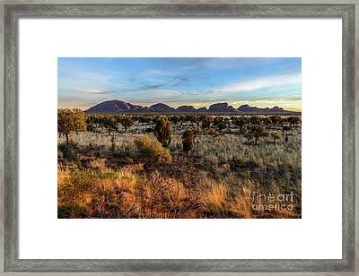 Framed Print featuring the photograph Kata Tjuta 02 by Werner Padarin