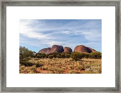Framed Print featuring the photograph Kata Tjuta 06 by Werner Padarin