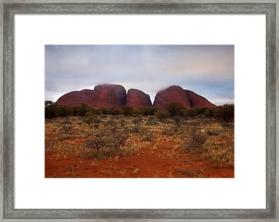 Kata Tjuta Evening Glow Framed Print by Mike  Dawson